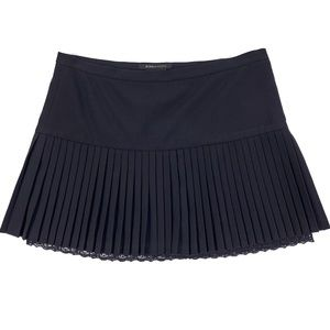BCBGMaxAzria Pleated Mini Skirt Lining Lace Trim